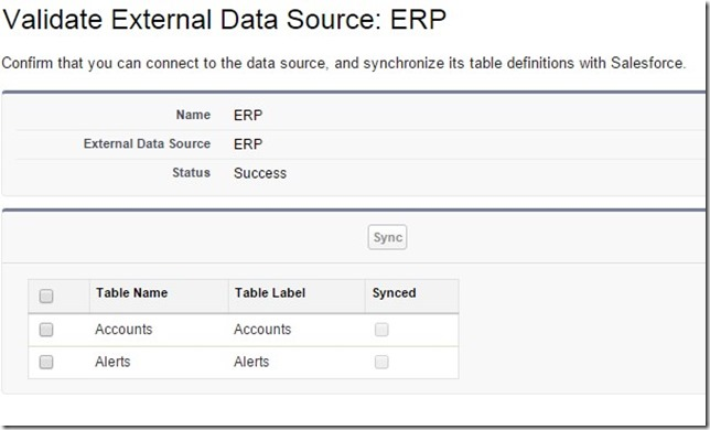 Validate and sync external data source